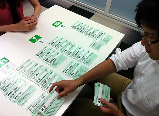 ビジネスマナーカードの使用例